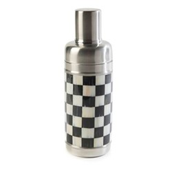 Courtly Check Cocktail shaker, D 7.62 x H22.86cm, black & white
