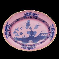 Oriente Italiano Oval platter, 34cm, azalea