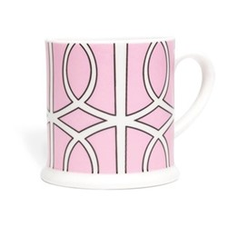 Loop Espresso cup, 6.6 x 6.1cm, pink/white
