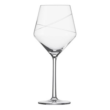 Pure Loop Set of 6 burgundy wine glass bowls, H22.2 x D9.8cm - 465ml, clear