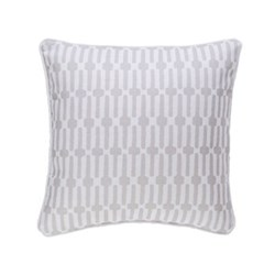 Fresh American - Links Recycled polyester P.E.T. indoor/outdoor cushion, 51 x 51cm, pearl grey