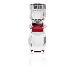 Nevada T-light holder, L8 x H20.8 x D8cm, black/red