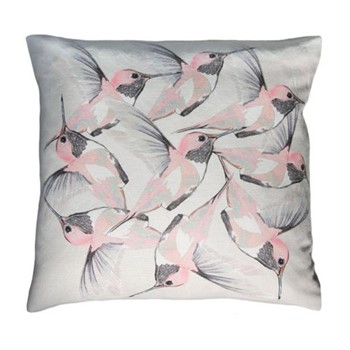 Rose Hummer Grey Cushion, L45 x W45cm, multi grey