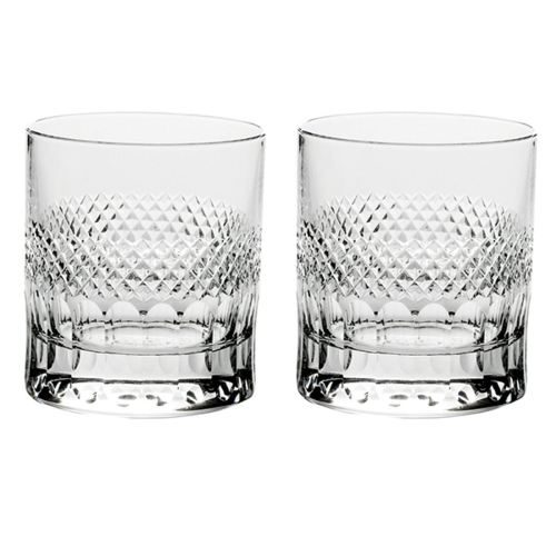 Diamonds Pair of large tumblers, Clear