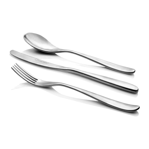 Olive 42 piece set, satin finish stainless steel