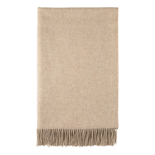 Cashmere bed throw, 230 x 150cm, Hessian