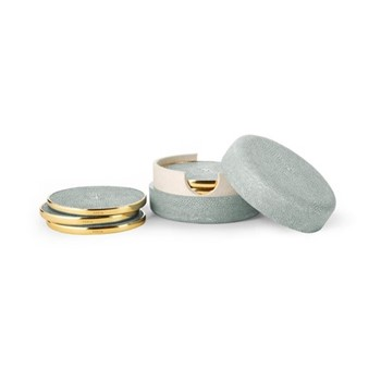 Shagreen Set of 4 coasters, mist