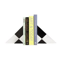 Canaan Bookend set, Black/White