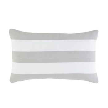 Fresh American - Catamaran Polypropylene indoor/outdoor cushion, L61 x W38cm, pearl grey/white