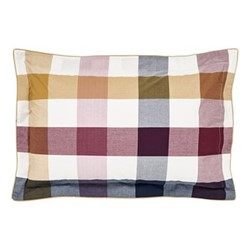 Country Ramble Check Oxford pillowcase, L48 x W74 cm, plum