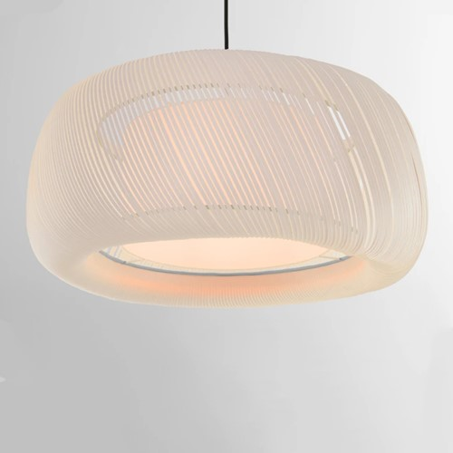 Penny Large wide pendant shade, H25 x W57 x D57cm, Muted Grey