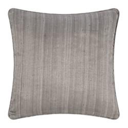 Silk cushion, 45 x 45cm, silver