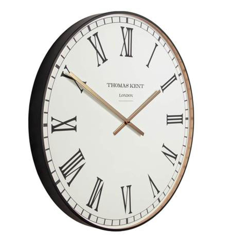 Clocksmith Wall clock, Dia53cm, Black/White/Brass