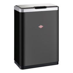 i.Master Double 2 compartment bin, H65cm - 2 x 20 litre, matt black