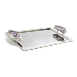 Héritage Large tray, 46 x 29cm, cape amethyst silver