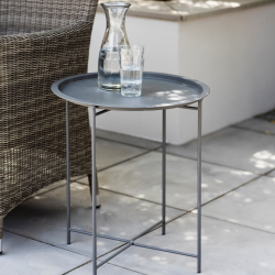 Rive Droite Bistro tray table, H52 x D46cm, charcoal steel