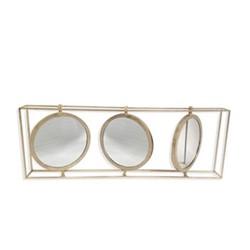 Orion Triple mirror, H48 x W136 x D13cm, gold