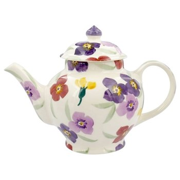 Wallflower Teapot, 2 mug