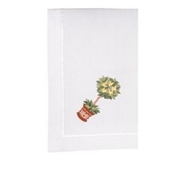 Sicily Set of 4 napkins, 40 x 40cm, white