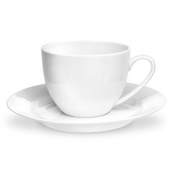 Serendipity Set of 4 teacups and saucers plates, 22cl, White