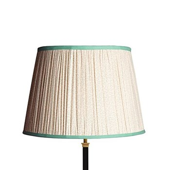 Straight Empire Lampshade, 40cm, aqua squiggles