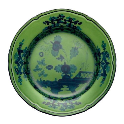 Oriente Italiano Bread plate, 17cm, Malachite
