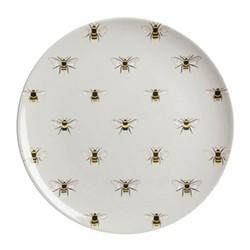 Bees Set of 6 melamine dinner plates, 25.4cm