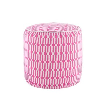 Fresh American - Links Recycled polyester P.E.T. indoor/outdoor pouf, D51 x H51cm, fuchsia