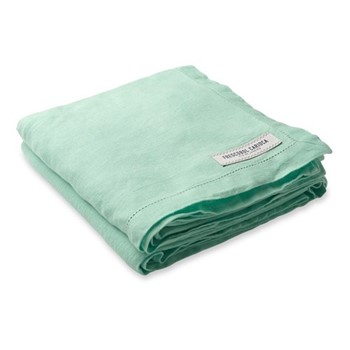 Linen beach towel, mint
