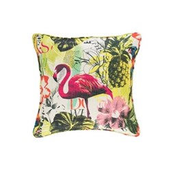 Fresh American - Tropics Recycled polyester P.E.T. indoor/outdoor cushion, 56 x 56cm