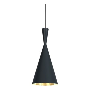Beat Tall pendant light, H42 x L18.5 x W18.5cm, black