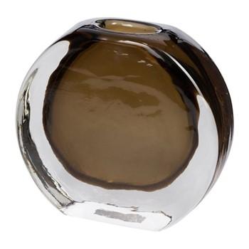 Round vase, W16 x L16 x H14.5cm, smoke grey
