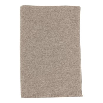 Cashmere knitted throw 190 x 130cm