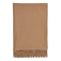 Plain Cashmere throw, 190 x 140cm, camel