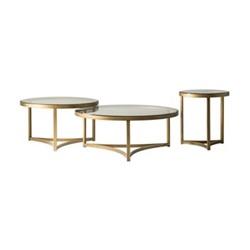 Sundance Medium coffee table, H45 x D80cm, antique brass