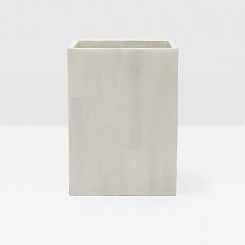 Arles Wastebasket, H28 x W21cm, white faux horn