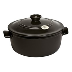 Round casserole with lid, 30 x 30 x 20cm -  7.0 Litre, charcoal
