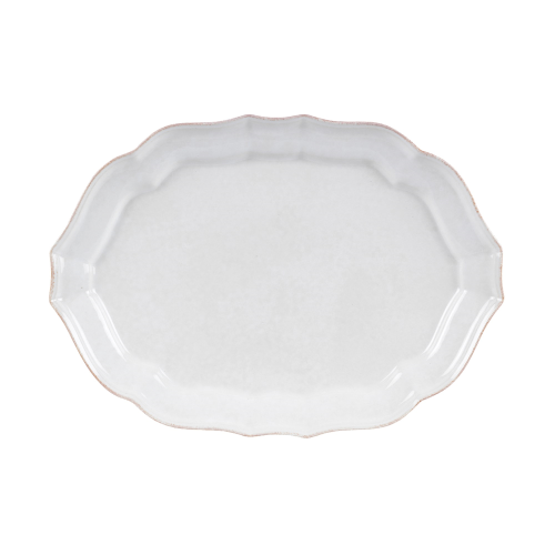 Impressions Medium oval platter, L35 x W26cm, White