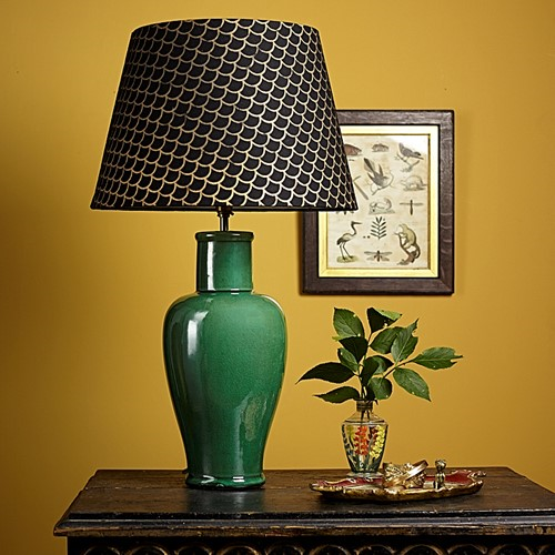 Lolita Smaller table lamp - base only, H33 x W13cm, emerald green