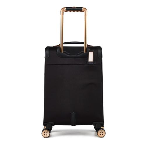 Albany Small 4 wheel cabin suitcase, L55 x W36 x D25cm, Black