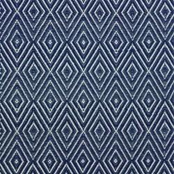 Diamond Polypropylene indoor/outdoor rug, W76 x L244cm, navy/ivory