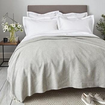 Blakeney Throw, 140 x 200cm, grey wool/cashmere