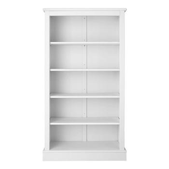 Milne Bookcase, H164 x W89 x D30cm, silk white