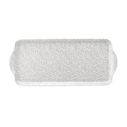 Pure Morris - Willow Bough Sandwich tray, 38.5 x 16.5cm, grey/white