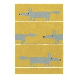 Mr Fox Rug, W140 x L200cm, mustard