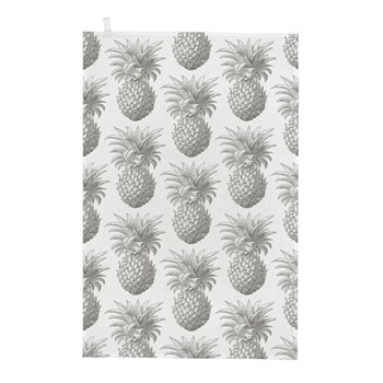 Pineapple Tea towel, 50 x 70cm, white/grey