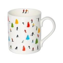 Tree Skiing Mug, H9.5 x W10.5 x D8.5cm - 35cl, multi