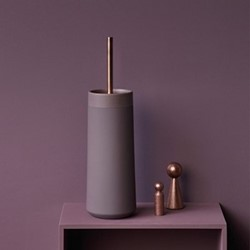 Opaco Toilet brush holder, 10.5 x 39cm, mauve