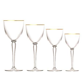 Apollo Wine glass, No. 3, gold rim