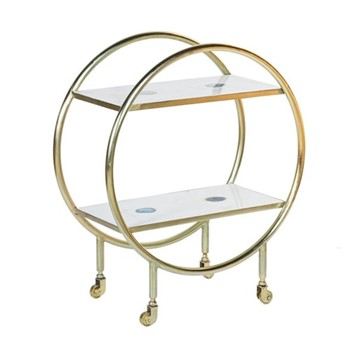 Cici Bar trolley, W72 x H83 x D36cm, brass